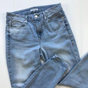 Good American Good Legs Blue 124 Skinny Ankle Crop